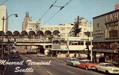Monorail Terminal - Seattle, Washington WA Postcard
