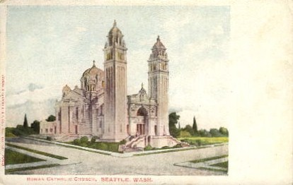 Roman Catholic Church - Seattle, Washington WA Postcard
