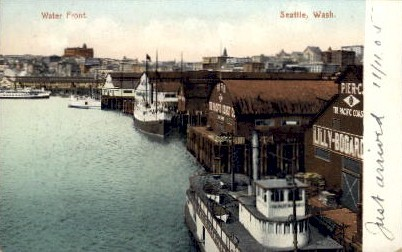 Water Front - Seattle, Washington WA Postcard