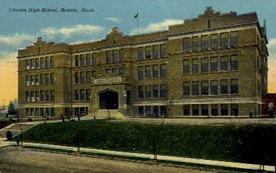 Lincoln High School - Seattle, Washington WA Postcard
