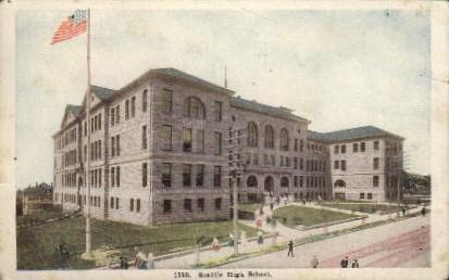 Seattle High School - Washington WA Postcard