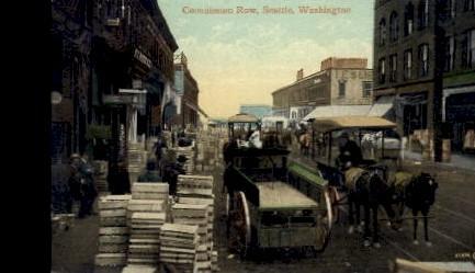 Commission Row - Seattle, Washington WA Postcard