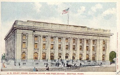 U.S. Court House - Seattle, Washington WA Postcard