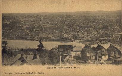 Capitol Hill   - Seattle, Washington WA Postcard