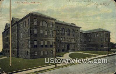 High School, Seattle - Washington WA Postcard