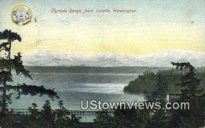 Olympic Range - Seattle, Washington WA Postcard