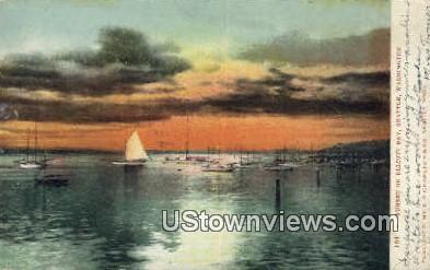 Elliott Bay - Seattle, Washington WA Postcard