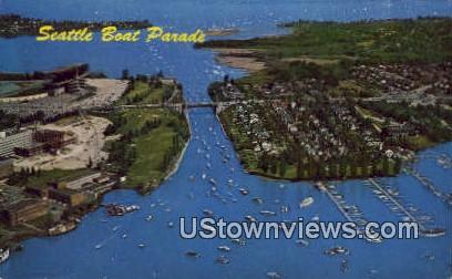Boat Parade - Seattle, Washington WA Postcard