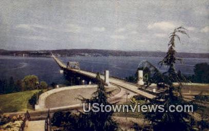 Lake Washington Pontoon Bridge - Seattle Postcard
