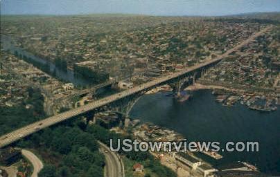 Aurora Bridge - Seattle, Washington WA Postcard
