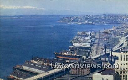 Waterfront - Seattle, Washington WA Postcard
