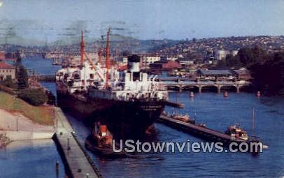 Government Locks - Seattle, Washington WA Postcard