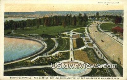 Gardens, Volunteer Park - Seattle, Washington WA Postcard