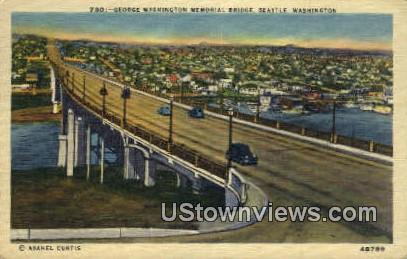 George Washington Memorial Bridge - Seattle Postcard