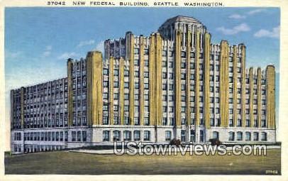 New Federal Bldg - Seattle, Washington WA Postcard