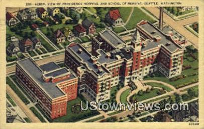 Procidence Hosptial & School of Nursing - Seattle, Washington WA Postcard