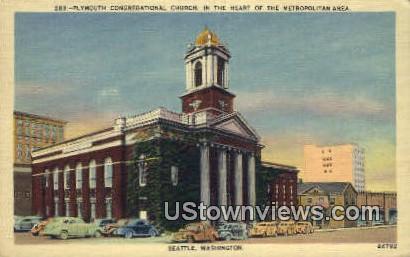 Plymouth Congregational Church - Seattle, Washington WA Postcard