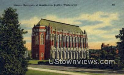 Library, University of Washington - Seattle Postcard