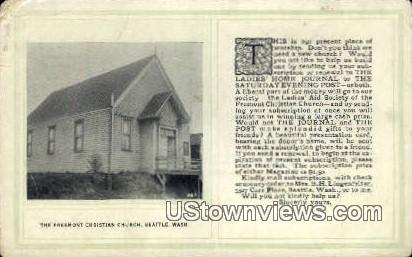 Freemont Christian Church - Seattle, Washington WA Postcard