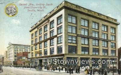 Second Ave, University St - Seattle, Washington WA Postcard