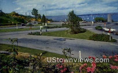 Floating Bridge Plaza - Seattle, Washington WA Postcard