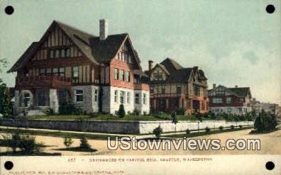Residences, Capitol Hill - Seattle, Washington WA Postcard