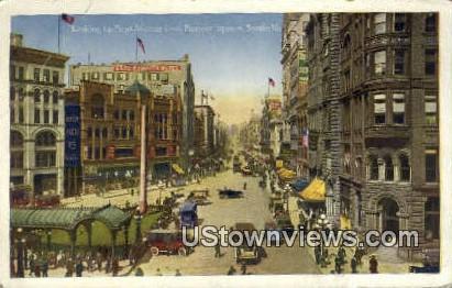 First Ave, Pioneer Square - Seattle, Washington WA Postcard