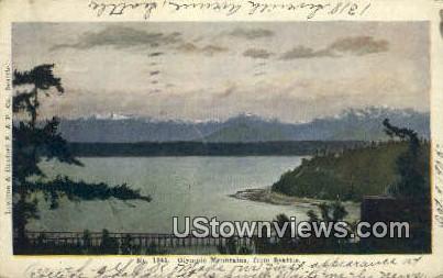 Olympic Mountains - Seattle, Washington WA Postcard