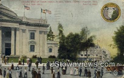 Yukon Ave, Pacific Exposition 1909 - Seattle, Washington WA Postcard
