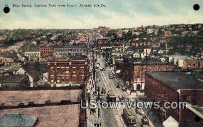 Pike Street, Second Ave - Seattle, Washington WA Postcard