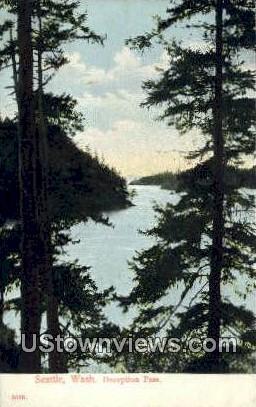 Deception Pass - Seattle, Washington WA Postcard