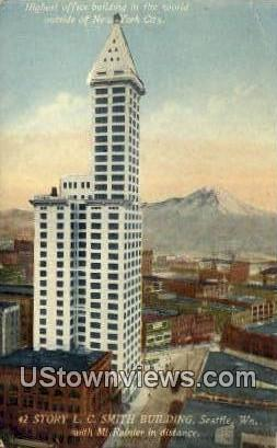 42 Story LC Smith Bldg - Seattle, Washington WA Postcard