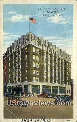 Stratford Hotel - Seattle, Washington WA Postcard