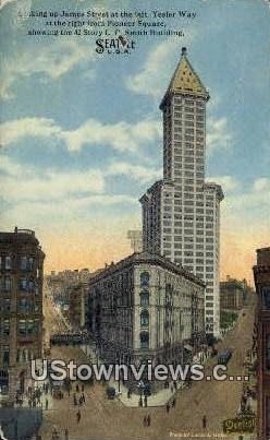James Street, Pioneer Square - Seattle, Washington WA Postcard