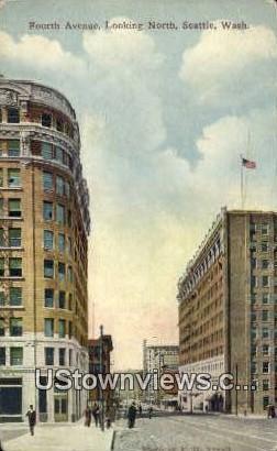 Fourth Aave - Seattle, Washington WA Postcard