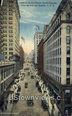 Cherry Street Canyon - Seattle, Washington WA Postcard