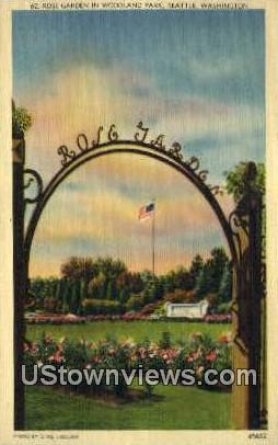 Rose Garden, Woodland Park - Seattle, Washington WA Postcard