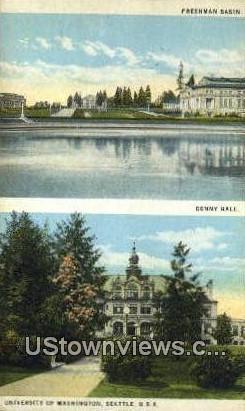 Denny Hall, University of Washington - Seattle Postcard