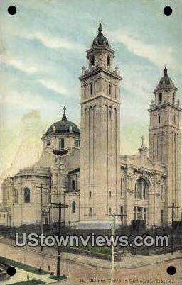 Roman Catholic Cathedral - Seattle, Washington WA Postcard
