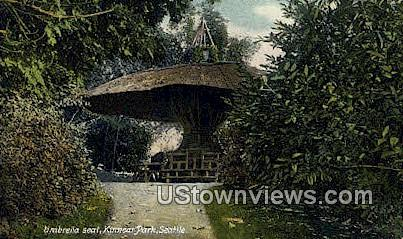 Umbrella Seat, Kinnear Park - Seattle, Washington WA Postcard