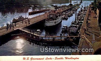 US Government Locks - Seattle, Washington WA Postcard