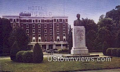 Hotel Monticello, RA Long Memorial - Longview, Washington WA Postcard