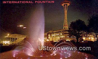 International Fountain - Seattle, Washington WA Postcard