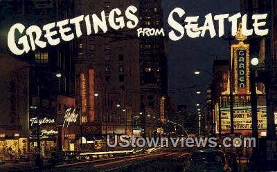 Third Street - Seattle, Washington WA Postcard