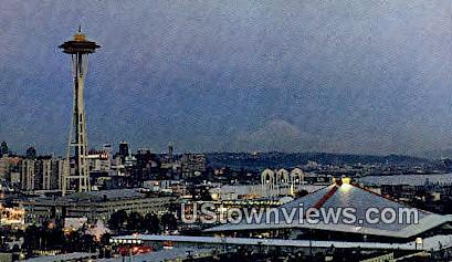 Space Needle - Seattle, Washington WA Postcard