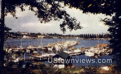Seattle Yacht Harbor - Washington WA Postcard