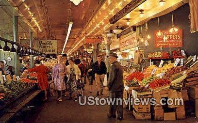Pike Place Market - Seattle, Washington WA Postcard