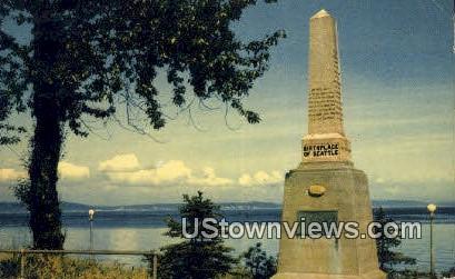 Alki Point, Birth Place of Seattle - Washington WA Postcard
