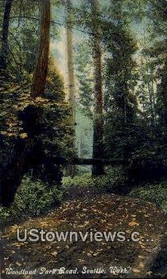 Woodland Park Road - Seattle, Washington WA Postcard