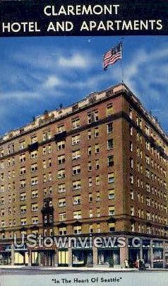 Claremont Hotel & Apartments - Seattle, Washington WA Postcard